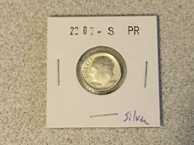 2007 S Proof 90% Silver Roosevelt Dime