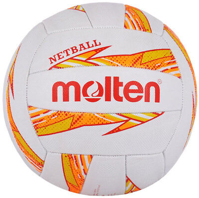 Molten Dynamite Netball Durable Rubber - Stitched Panel Design, Official Size 5