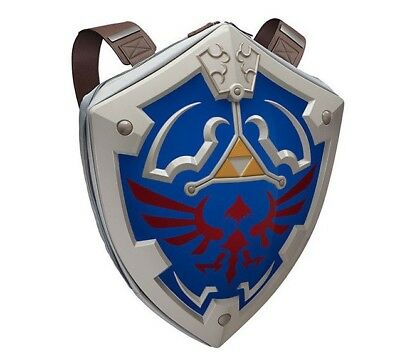 "Zelda 23"" Hylian Shield Hard Shell Backpack Official Ocarina of Time Triforce"