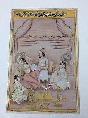 Antique Indian Islamic Miniature Manuscript Painting Rajasthani Kalam 19c