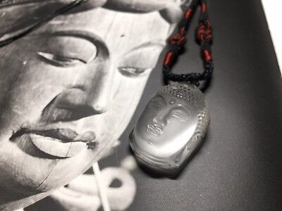 Chinese Buhda Bodhidharma crystal pendant necklace