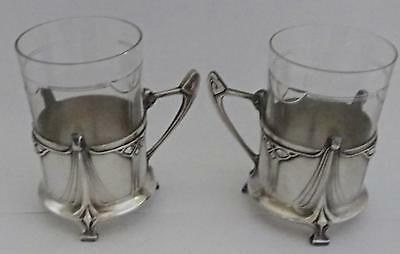 Outstanding Pair of WMF Art Nouveau Teacup Holders