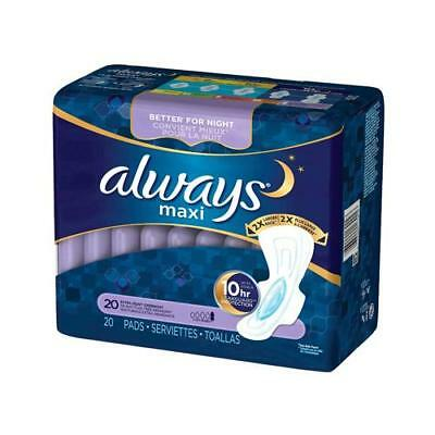 Always Overnight Extra Heavy Flow Pads, 20ct 037000179023T3326
