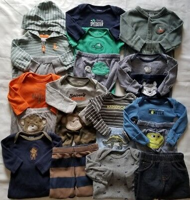 Baby Boys Newborn 0/3 3 Months Fall Winter Clothing Outfits clothes Lot