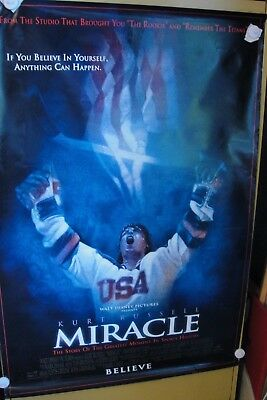 MIRACLE ( 2004) original movie theater poster  2 sided