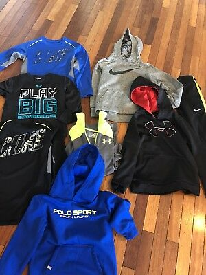 Boys 7/8 Dri Fit Winter Lot: Nike: Underarmor : Polo