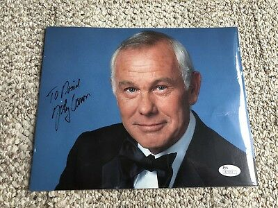 JOHNNY CARSON - INSCRIBED PHOTOGRAPH SIGNED Authenticated By JSA with COA