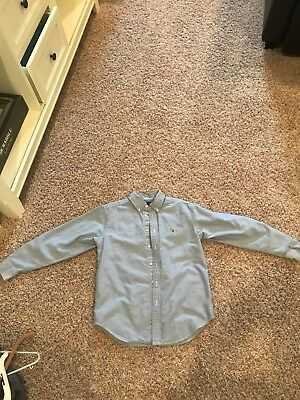 Boys size 12 blue polo ralph lauren long sleeve shirt