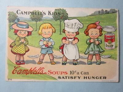 Original, 1910 Post Card, Campbell's Kids No.4, Campbell's Soup, Very Nice
