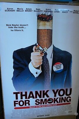 THANK YOU FOR SMOKING ( 2005) original movie theater poster  Aaron Eckhart