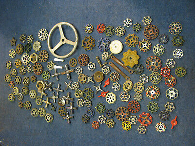 Water Faucet Handles Vintage/antique Steampunk Industrial Crafts Lot Of125