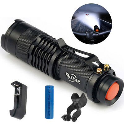 15000lm LED Flashlight Bike Bicycle light Riding Torch 360° Mount Clip Lamp