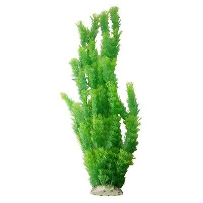 """21.6"""" Height Green Plastic Artificial Water Plant Grass for Fish Tank Q8T4"""