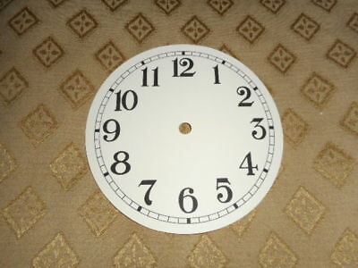 "Round Paper Clock Dial- 4 1/2"" M/T - Arabic - Matt Cream  - Face/ Clock Parts"