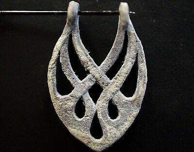 Ancient Viking Hammered Silver Amulet depicting Norse Eternity Knot, 950-1000 Ad