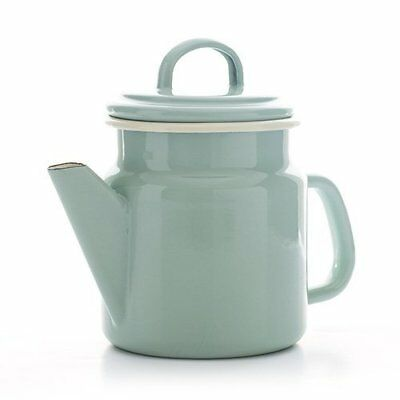 Vintage Home - Small QUALITY Enamelware COFFEE POT - SAGE GREEN - 1.2 (W4S)