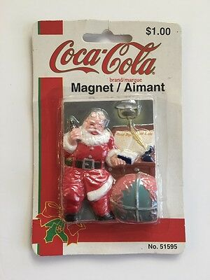 Vtg Coca Cola MAGNET Santa Checking His List While Having A Coke New In Package