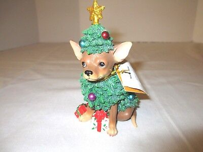 Aye Chihuahua Resin Figurine Westland Giftware CHRISTMAS TREE 13370 w/Box