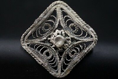 Ancient Viking Openwork Silver Cross Amulet. Stunning Norse Pendant, 950-1000 Ad