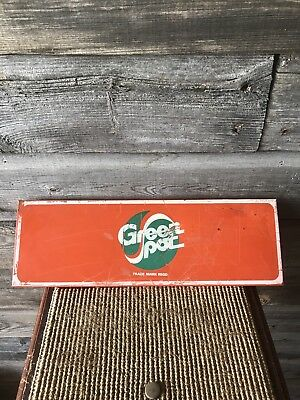 Vintage Green Spot Soda Rack Sign