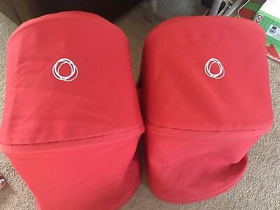 2 Bugaboo Donkey Hoods Red. Excellent Condition