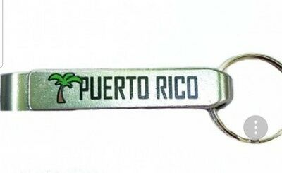 Rican Puerto Rico Souvenirs Metal Bottle Opener key holder ring Palm