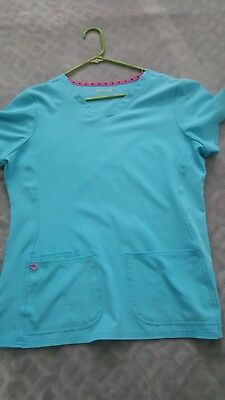 Heart soul scrubs large aqua great condition never worn didn't fit me.