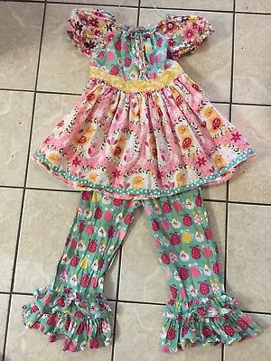 Jelly The Pug 2 piece Love Birds outfit Darling Size 10