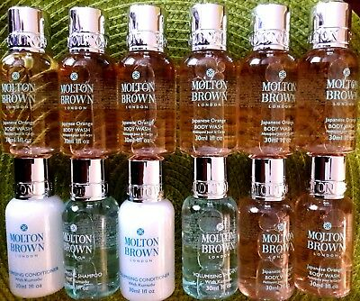 ♡♡Molton Brown Various Body Wash Shampoo/Conditioner HOLIDAY TREATS 12x30 ml♡♡