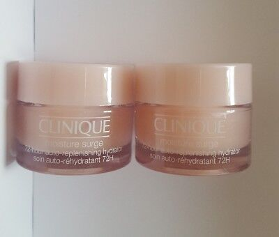 CLINIQUE MOISTURE SURGE 72 Hour Auto Replenishing Hydrator 15 ml x2 total  30ml