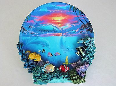 Colors Of The Sea Anthony Jones Sealife At Sunset Plate Collection