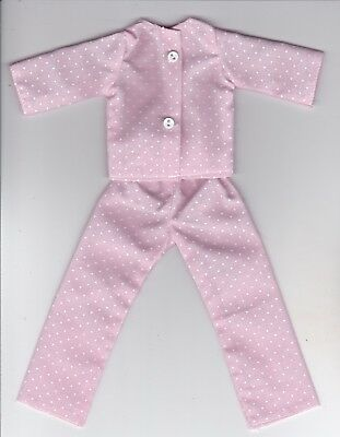 Doll Clothes-Pink & White Tiny Polka Dots Pajamas that fit Barbie-Homemade BP5