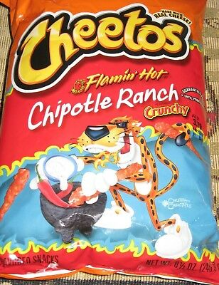 Single Bag 8.5 oz Crunchy Flamin' Hot Chipotle Ranch Cheetos New Way To Get Hot