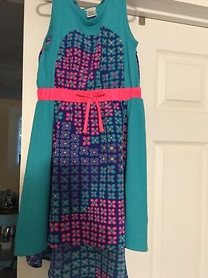 NWOT Girl's Sweet Heart Rose High Low Colorful Dress Size 6X So Pretty!