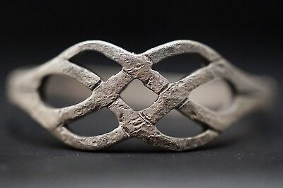 Ancient Viking Openwork Silver Ring of Norse Eternity Knot Loop, c 950-1000 Ad.