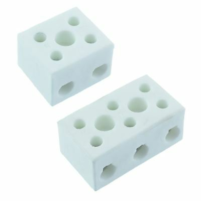 2 or 3 Pole Ceramic Steatite Terminal Block Connector High Temperature