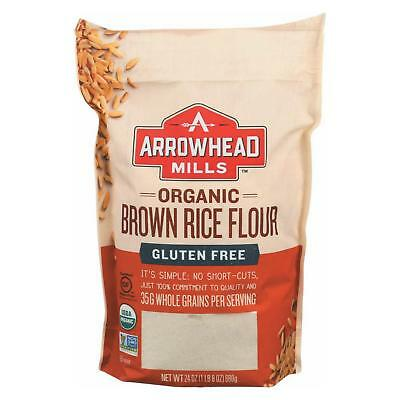 Arrowhead Mills Organic Brown Rice Flour - Gluten Free - Case Of 6 - 24 Oz.