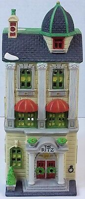 EUC Dept 56 Christmas in the City Ritz Hotel 1989 Lighted House Village RETIRED