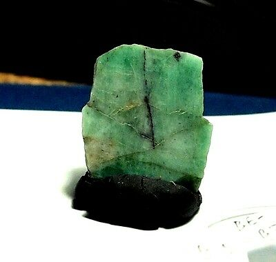 Emerald,Crystal,Slice Rough specimen,22x21x4mm(1pc)19.86ct,BE-B51,natural
