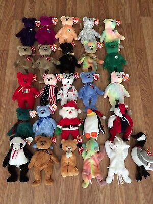Beanie Babies Lot Of 26. Mostly Bears