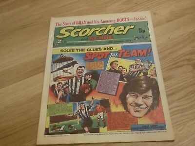1974 Scorcher And Score Comic Newcastle United Spot The Team On Cover
