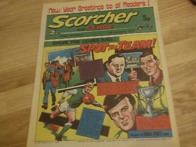 1974 Scorcher And Score Comic Hibernian Fc On Cover In Spot The Team Series