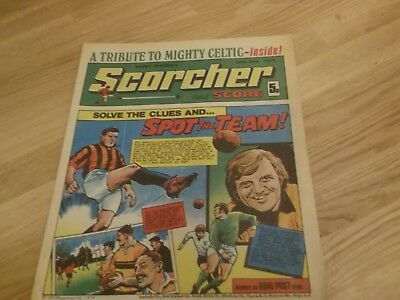1974 Scorcher And Score Comic A Tribute To The Mighty Celtic