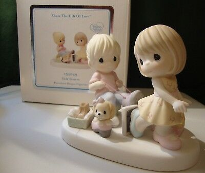 Precious Moments SOLE SISTERS  Porcelain Bisque Figurine 154049 NEW