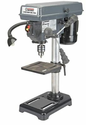 """Bench Drill Press Table Top w Work Light and 45° Tilt table 8"""" 5 Speed 1/2 HP"""