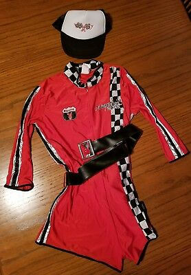 PLAYBOY COLLECTION WOMEN'S  ADULT COSTUME RACY RACER - SIZE Large 14-16