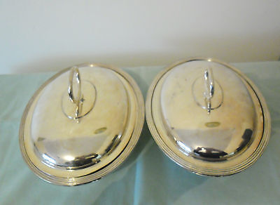 ANTIQUE SILVER PLATE ENTREE SERVING DISHES  WALKER & HALL c1905-1910