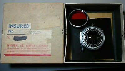 vintage prontor sv lens with lens board for box camera made in germany
