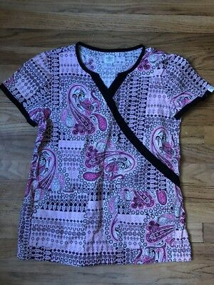 Med Couture Scrub Top Size Small