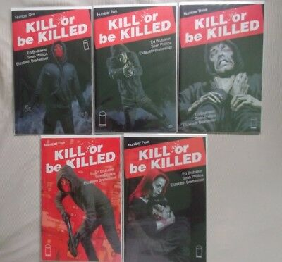 Kill or Be Killed #1, 2, 3, 4, 5 lot 1st print NM never read image